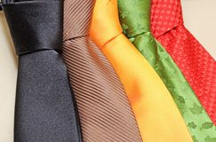 Tie collection Stock Photos