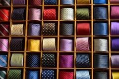 Tie cravat color display. Colorful display of silk ties cravat Stock Photography