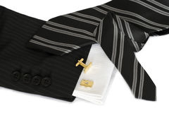Tie and cuff button Stock Photo