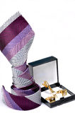 Tie with cuff ling and tie pin Stock Photography