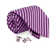 Tie and cuff links Royalty Free Stock Image