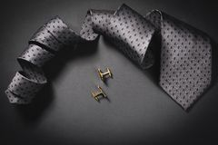 Tie and cuff links Stock Photos