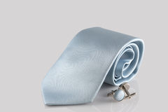 Tie with cuff links Royalty Free Stock Photography