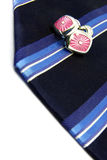 Tie and cufflinks Stock Images