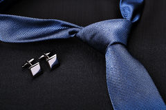 Tie and cufflinks Stock Photos