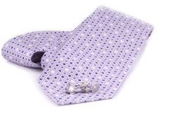 Tie and cuffs. An isolated shot of tie and cuff links Royalty Free Stock Images