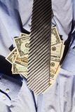 Tie and dollars Stock Image