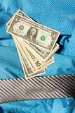 Tie and dollars Stock Photo
