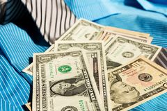 Tie and dollars Royalty Free Stock Photo