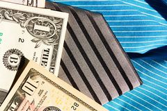 Tie and dollars Royalty Free Stock Image