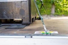 Free Tie Down Scheme Card For Cargo Transport Lashing Lies Near Lashing Material Royalty Free Stock Image - 155172326