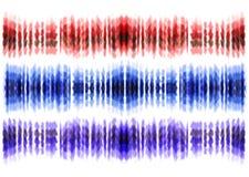 Tie dye art brushes. Print in Shibori style. Ribbon ornament, ribbon, border. Stock Image