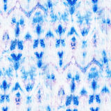Tie Dye Background. Beautiful seamless tie-dye pattern on white silk. Batik-hand painting fabrics - nodular batik. Shibori dyeing vector illustration