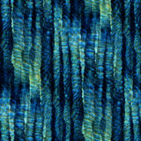 Tie Dye Background. Seamless tie-dye pattern of indigo and green color. Hand painting fabrics - nodular batik. Shibori dyeing royalty free illustration