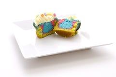 Tie dye cupcake Stock Images