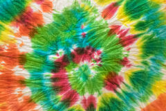 Tie dye fabric background Stock Images