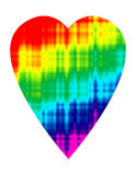 Tie Dye Heart Stock Images