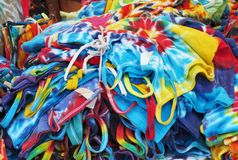 Tie dye items Royalty Free Stock Photos