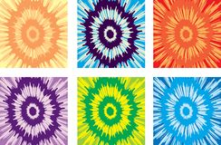 Tie Dye Pattern. A variety of tie-dye patterns in various colors Royalty Free Stock Photos