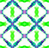 Tie Dye Pattern. Seafoam Green Watercolor hand drawn batik. Summer ink japan illustration. Handmade watercolour shirt  Aztec kaleidoscope texture. Shibori vector illustration