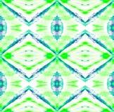 Tie Dye Pattern. Shibori seamless print. Watercolor hand drawn batik. Summer ink japan illustration. Handmade watercolour shirt tie dye pattern. Aztec vector illustration