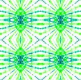 Tie Dye Pattern. Watercolor hand drawn batik. Summer ink japan illustration. Handmade watercolour shirt  Aztec kaleidoscope texture. Seafoam Green Shibori stock illustration