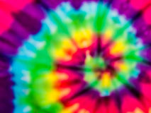 Tie dye rainbow blur Stock Image