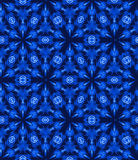 Tie dye, shibori seamless pattern. Seamless tie dye pattern with shibori origami technique in natural indigo colors. Hand dyed textile, trendy colors and Royalty Free Stock Photography