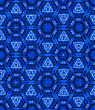 Tie dye, shibori seamless pattern. Seamless tie dye pattern with shibori origami technique in natural indigo colors. Hand dyed textile, trendy colors and Stock Image