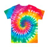 Tie Dye Shirt. Spiral Tie Dye Shirt Isolated on White Background Royalty Free Stock Photography