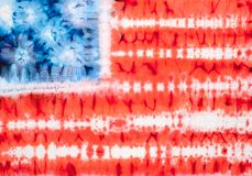 Tie dye. United States of America flag. Tie dyed fabric background Royalty Free Stock Photo