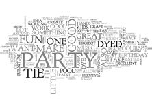 A Tie Dyed Birthday Bashword Cloud. A TIE DYED BIRTHDAY BASH TEXT WORD CLOUD CONCEPT stock illustration