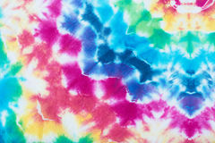 Tie dyed pattern on cotton fabric dip dyed technique abstract background. Stock Photography