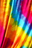Tie dyed pattern on cotton fabric outdoor on sunny day for fabric texture background stock photos