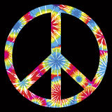 Tie Dyed Peace Symbol. Multicolored Tie Dyed Peace Symbol Royalty Free Stock Images