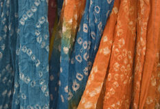 Tie Dyed Scarves Royalty Free Stock Image