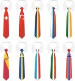 tie för 2 nationality stock illustrationer