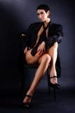 tie för modell för man för stort lagmode älskvärd Fotografering för Bildbyråer