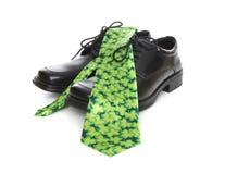 tie för saint för patricks för affärsman arkivfoto
