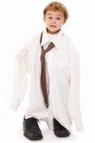 tie för skjorta för pojkefarsa s Royaltyfria Bilder