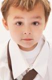 tie för skjorta för pojkefarsa s Arkivbild