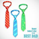 Tie in Father's Day Card Stock Images