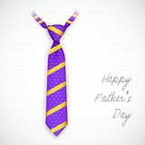 Tie in Father's Day Card Royalty Free Stock Photography