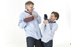 Tie fight Stock Images