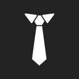 Tie flat icon. Necktie vector illustration Stock Image