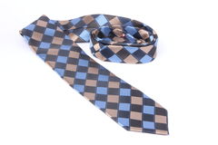 Tie. Folded Neckties on White background stock images