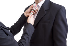 Tie From String Stock Image