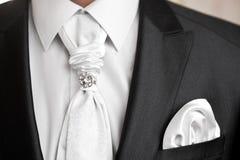 Tie of the groom for celebratory Stock Photos