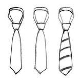 Tie hand drawn  on white background Royalty Free Stock Image