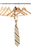 Tie on hangers for clothes Royalty Free Stock Photo